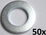 Unterlegscheiben nach DIN 125-A, M10 verzinkt (50 Stück)