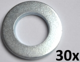 Unterlegscheiben nach DIN 125-A, M12 verzinkt (30 Stück)