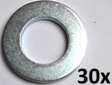 Washers DIN125-A, M14 zinc plated (30 pieces)