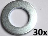 Unterlegscheiben nach DIN 125-A, M14 verzinkt (30 Stück)