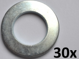 Washers DIN125-A, M16 zinc plated (30 pieces)