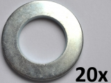 Washers DIN125-A, M20 zinc plated (20 pieces)