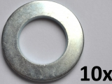 Washers DIN125-A, M22 zinc plated (10 pieces)