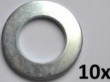 Unterlegscheiben nach DIN 125-A, M22 verzinkt (10 Stück)